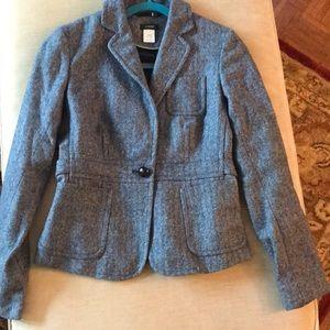 J Crew Wool Tweed Blazer